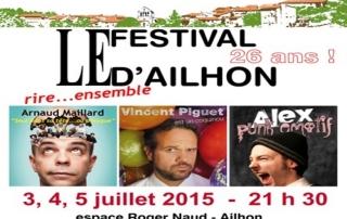 Affiche Festival Humour Ailhon