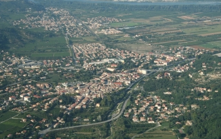 Saint-Péray pris d'avion