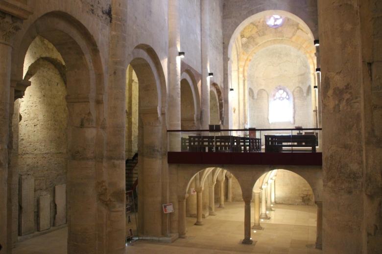 Tribune monastique - Abbatiale - Cruas - Ardeche-actu - 2016