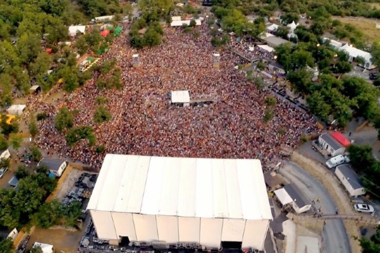 Vue aerienne Aluna Festival